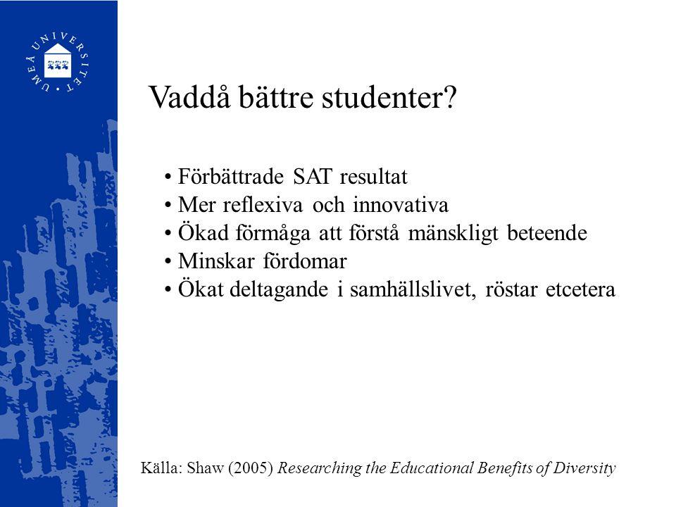 Vaddå bättre studenter