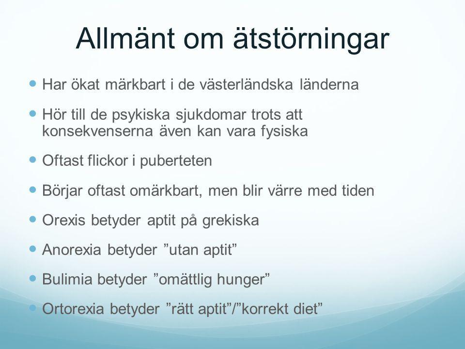 Allmänt om ätstörningar