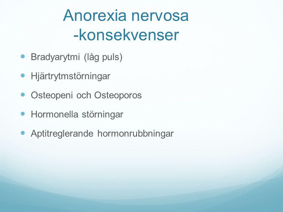 Anorexia nervosa -konsekvenser