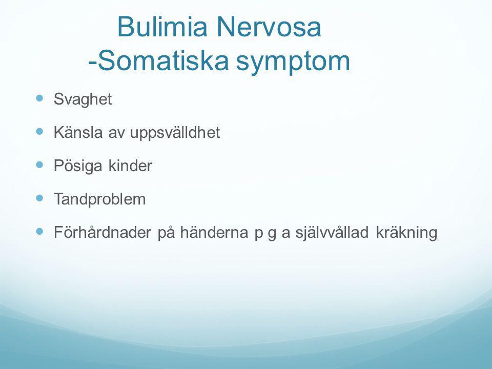 Bulimia Nervosa -Somatiska symptom