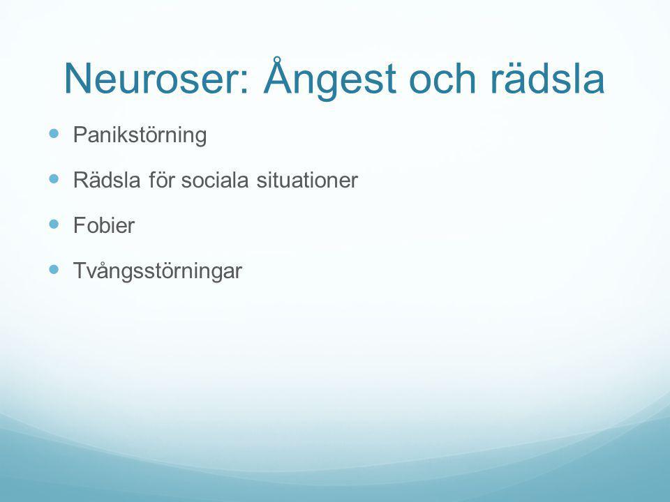 Neuroser: Ångest och rädsla