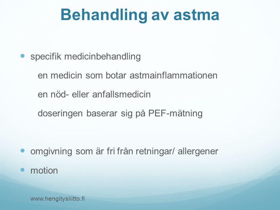 Behandling av astma specifik medicinbehandling