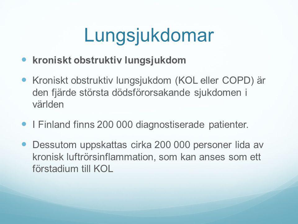 Lungsjukdomar kroniskt obstruktiv lungsjukdom