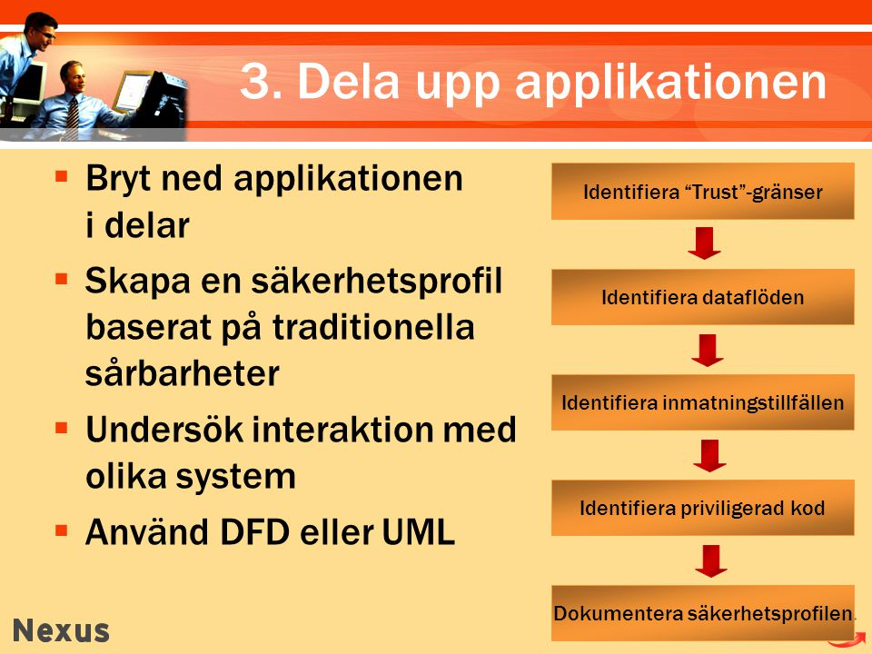 3. Dela upp applikationen
