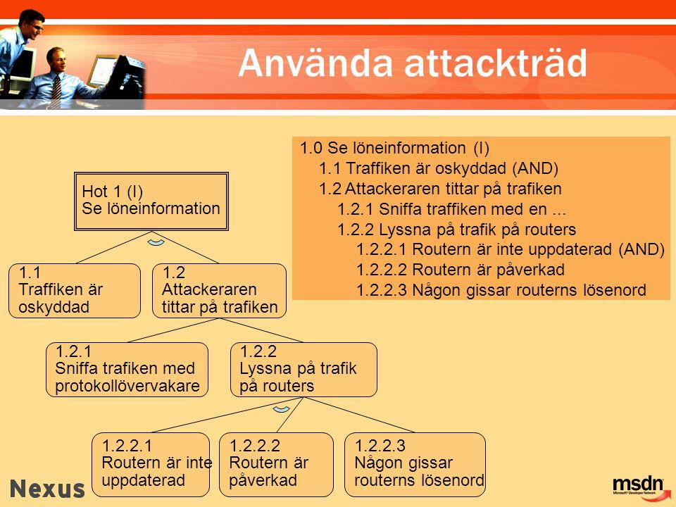 Använda attackträd 1.0 Se löneinformation (I)
