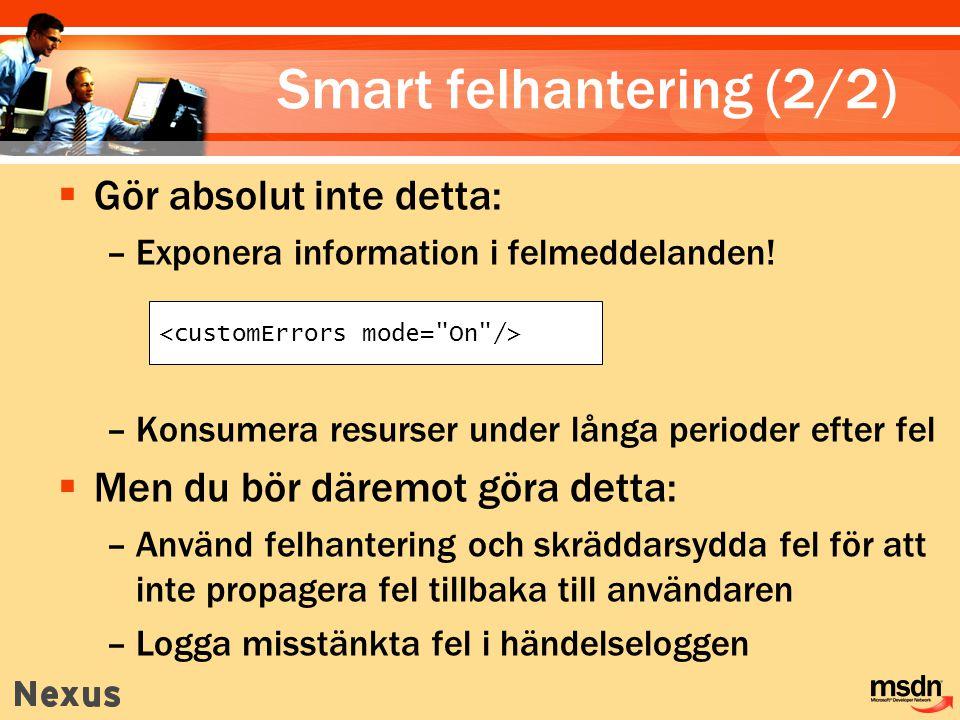 Smart felhantering (2/2)