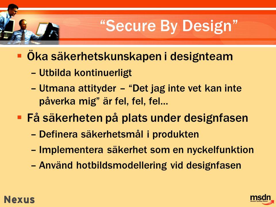 Secure By Design Öka säkerhetskunskapen i designteam