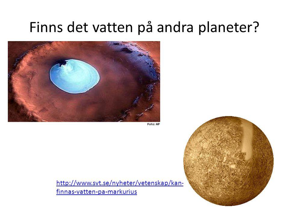 Finns det vatten på andra planeter