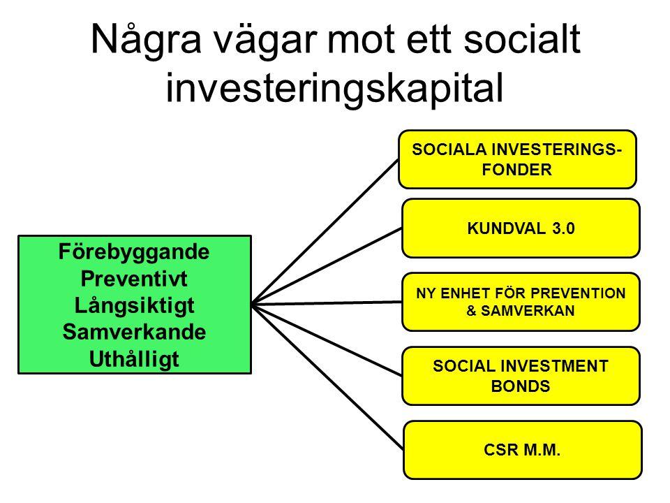 Några vägar mot ett socialt investeringskapital