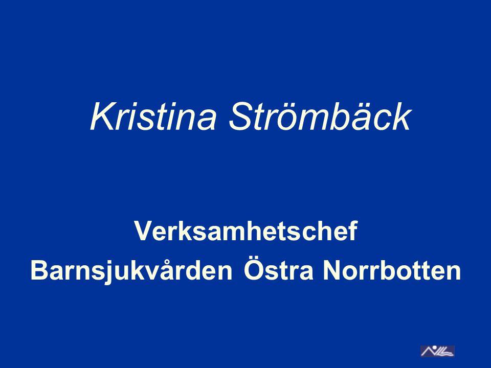 Verksamhetschef Barnsjukvården Östra Norrbotten