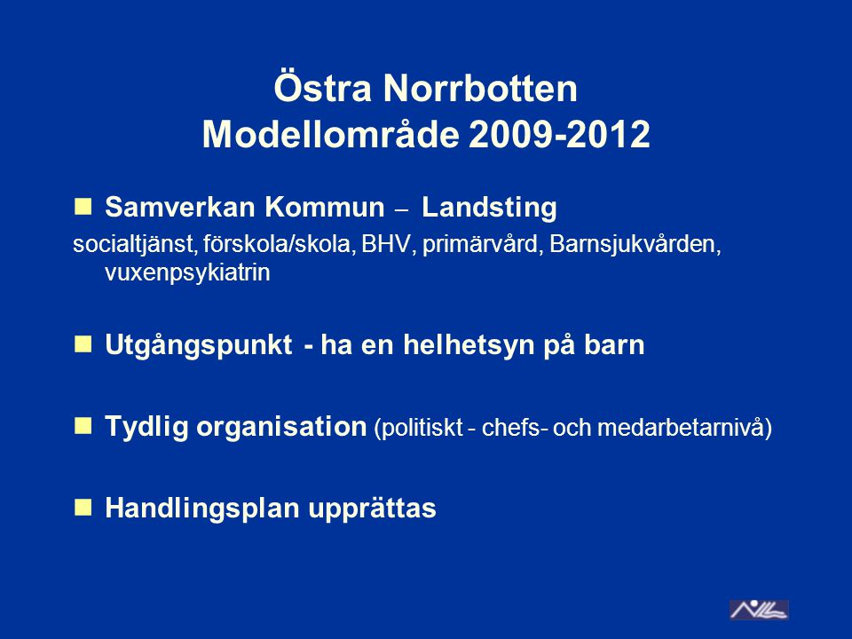 Östra Norrbotten Modellområde 2009-2012