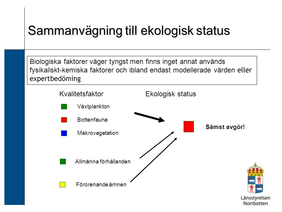 Sammanvägning till ekologisk status