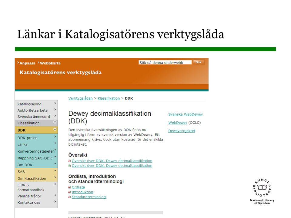 Länkar i Katalogisatörens verktygslåda