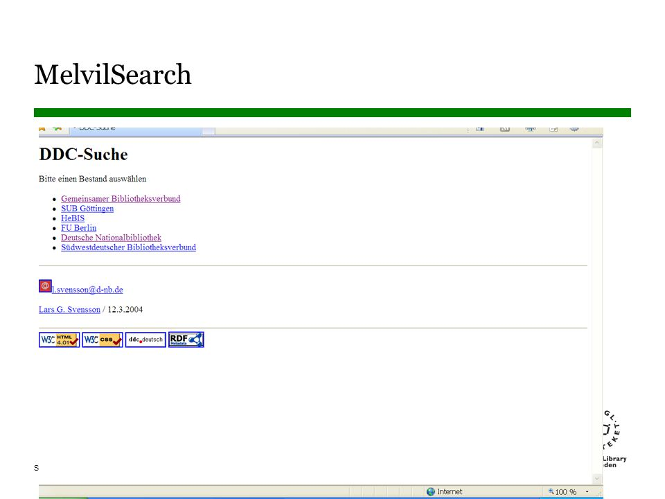 MelvilSearch Välj katalog