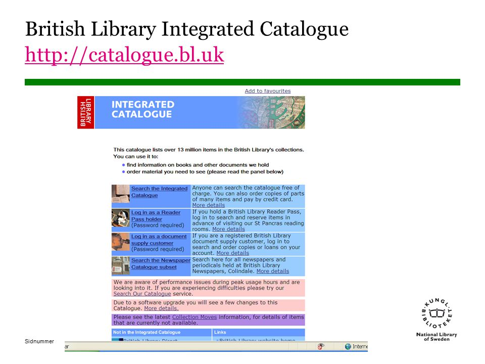 British Library Integrated Catalogue http://catalogue.bl.uk