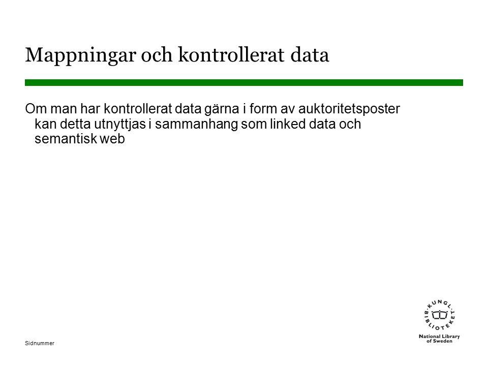 Mappningar och kontrollerat data
