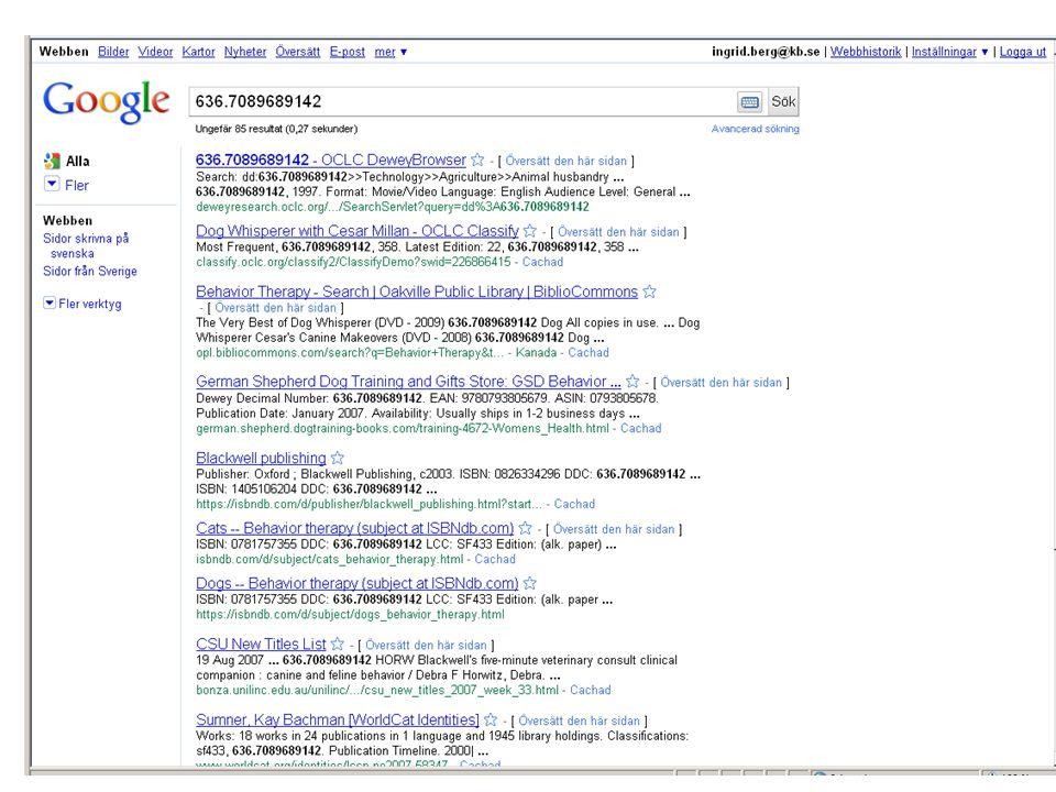Och så Google så klart! Ingen idé när det gäller enkla och korta koder, ju längre desto bättre.
