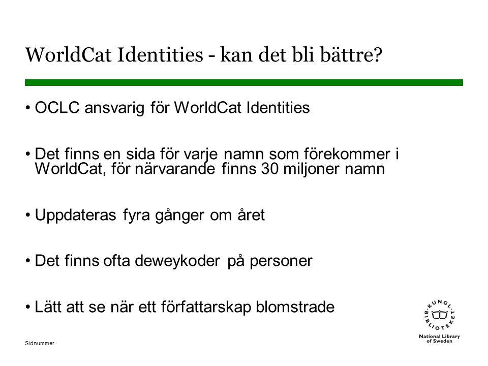 WorldCat Identities - kan det bli bättre