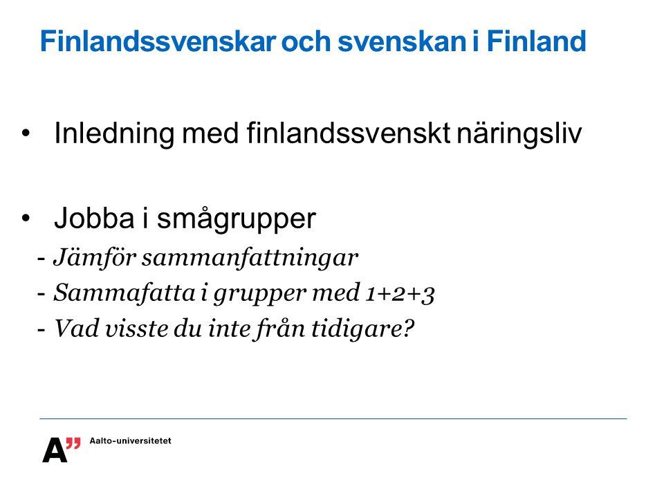 Finlandssvenskar och svenskan i Finland