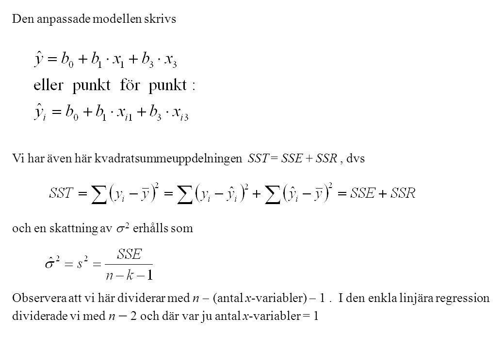 Den anpassade modellen skrivs