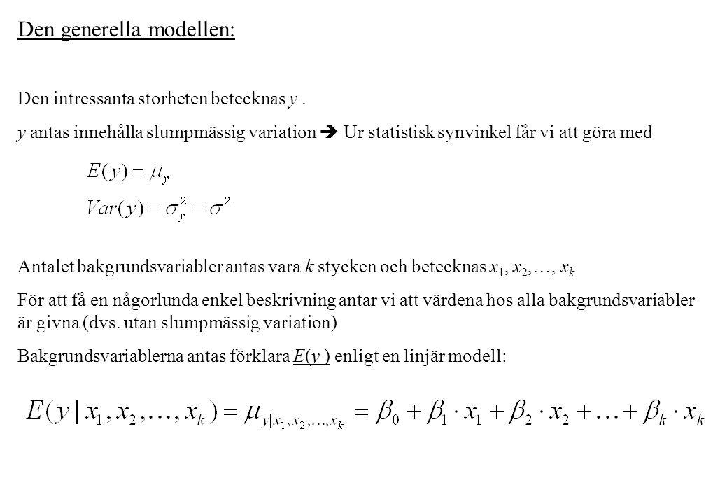 Den generella modellen: