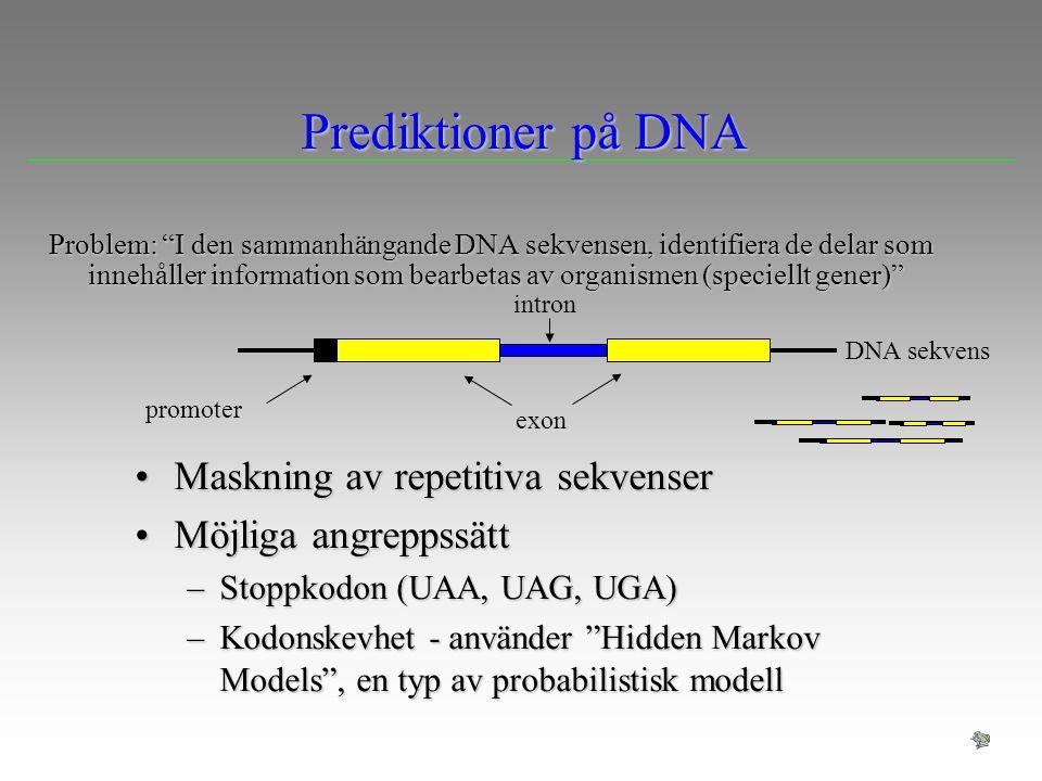 Prediktioner på DNA Maskning av repetitiva sekvenser