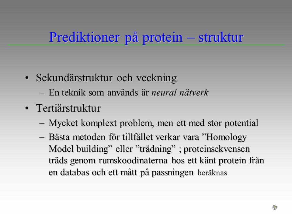 Prediktioner på protein – struktur