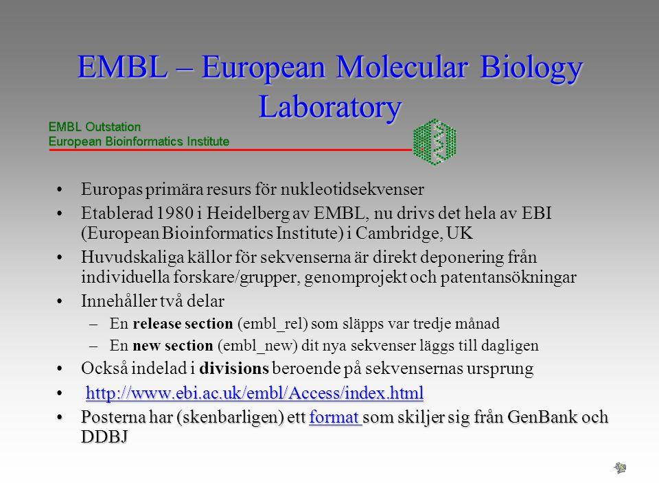 EMBL – European Molecular Biology Laboratory