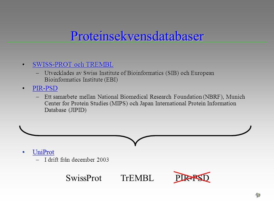 Proteinsekvensdatabaser
