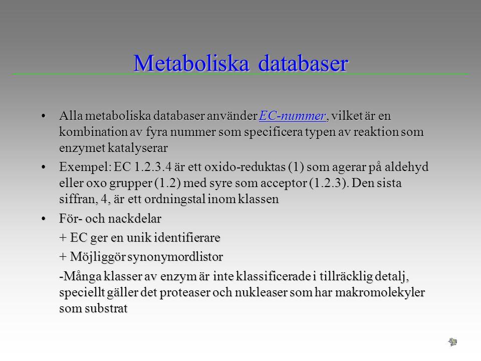 Metaboliska databaser