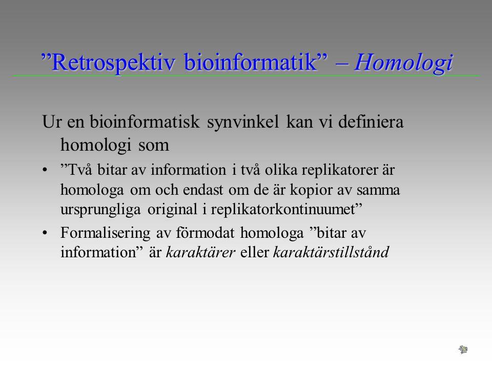 Retrospektiv bioinformatik – Homologi