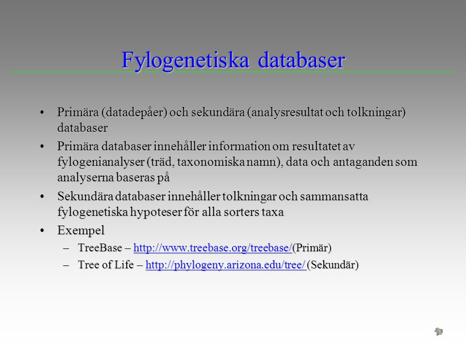 Fylogenetiska databaser