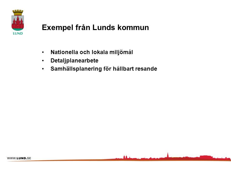 Exempel från Lunds kommun
