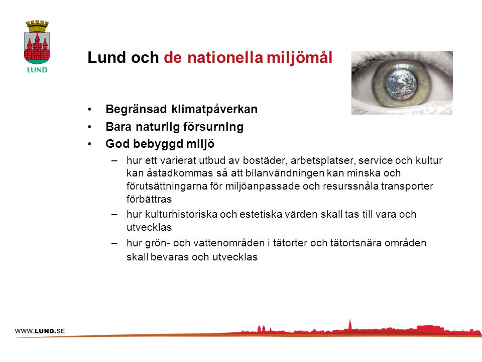 Lund och de nationella miljömål