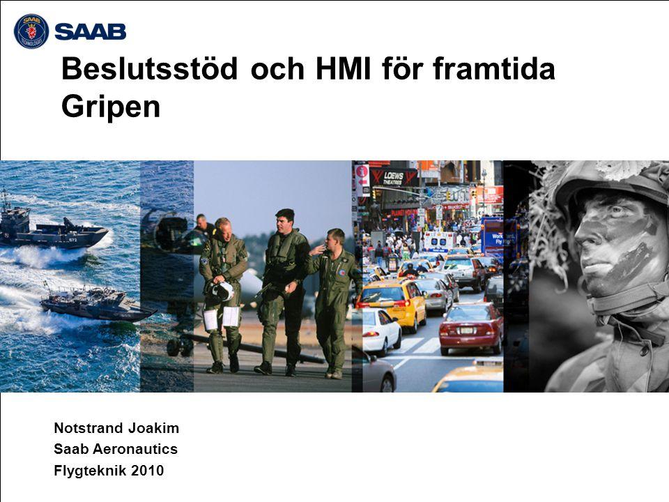 Beslutsstöd och HMI för framtida Gripen