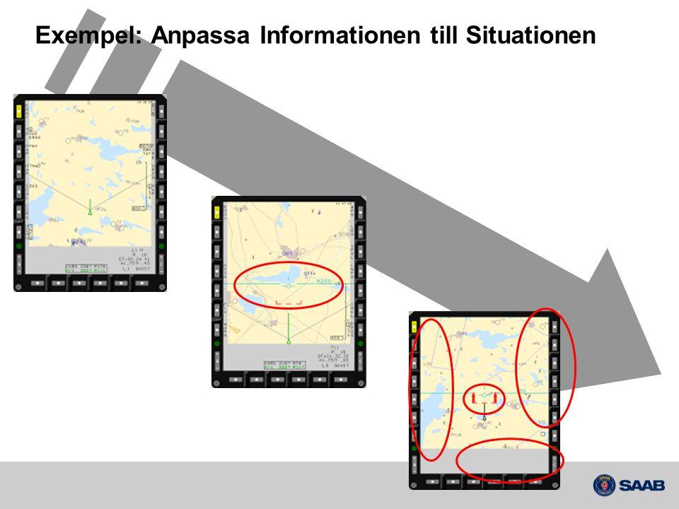 Exempel: Anpassa Informationen till Situationen