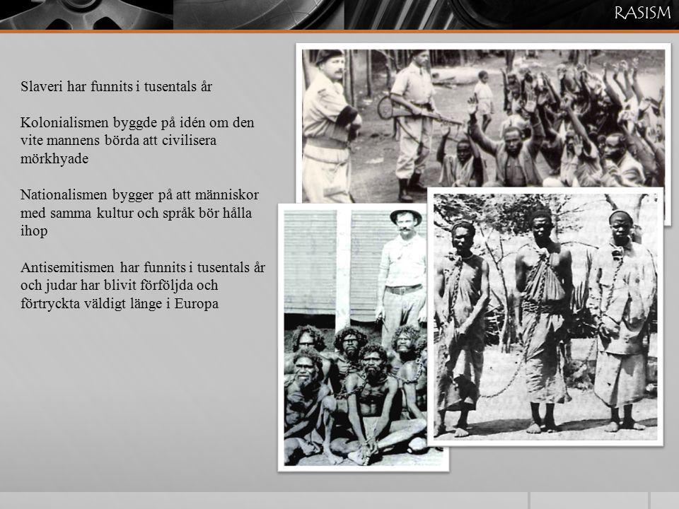RASISM Slaveri har funnits i tusentals år