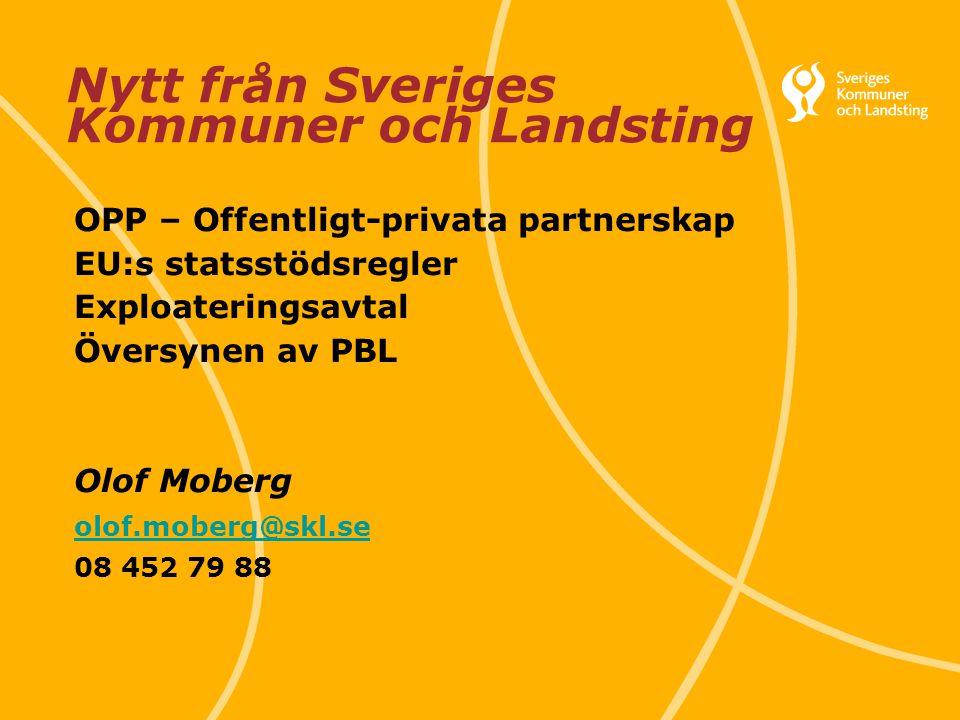 Nytt från Sveriges Kommuner och Landsting