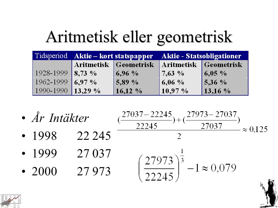 Aritmetisk eller geometrisk