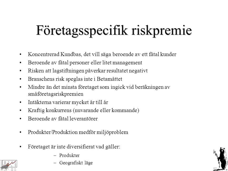 Företagsspecifik riskpremie