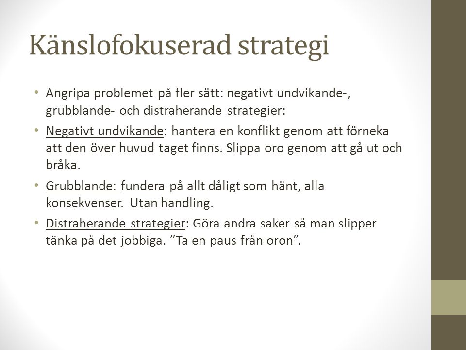 Känslofokuserad strategi