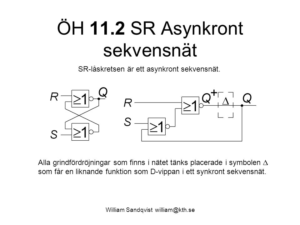 ÖH 11.2 SR Asynkront sekvensnät