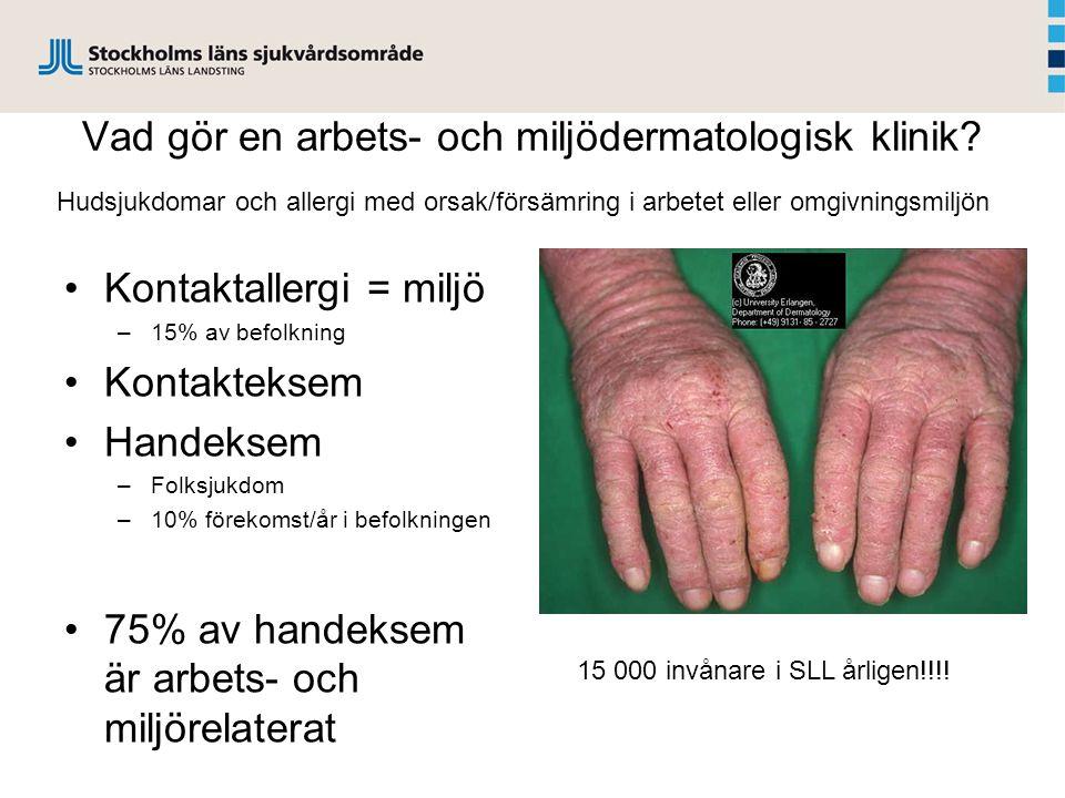 Vad gör en arbets- och miljödermatologisk klinik