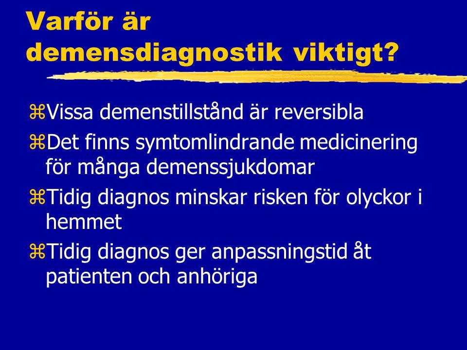 Varför är demensdiagnostik viktigt