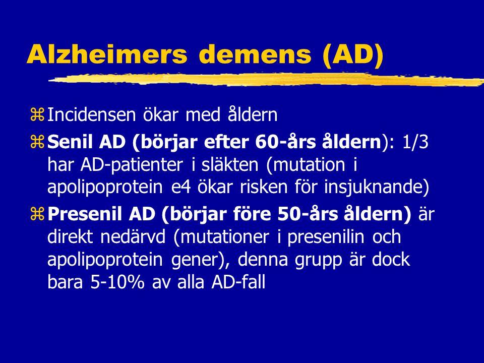 Alzheimers demens (AD)