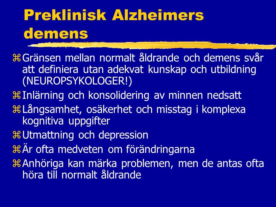 Preklinisk Alzheimers demens