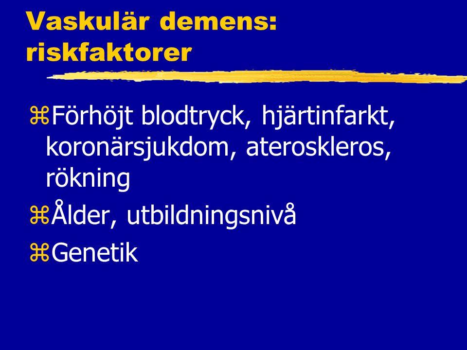 Vaskulär demens: riskfaktorer