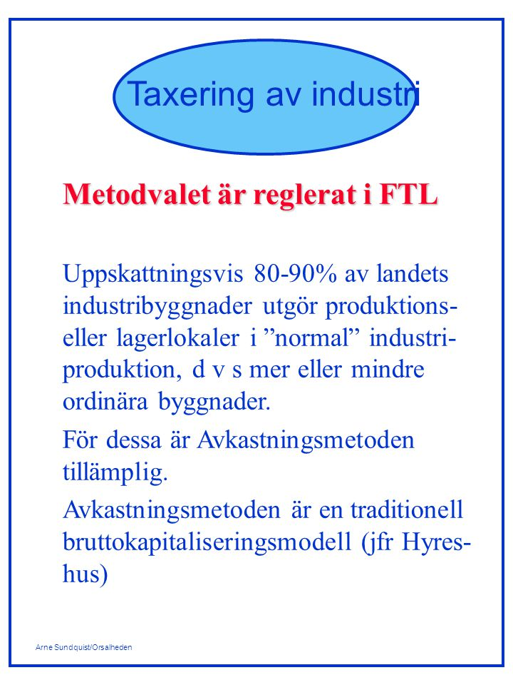 Metodvalet är reglerat i FTL
