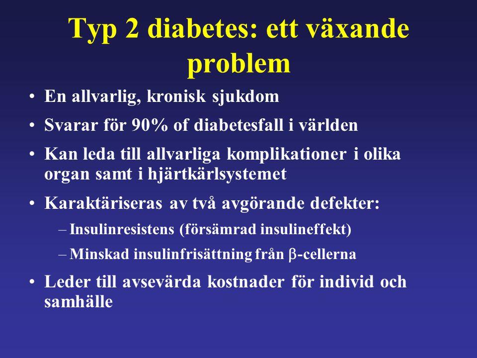 Typ 2 diabetes: ett växande problem