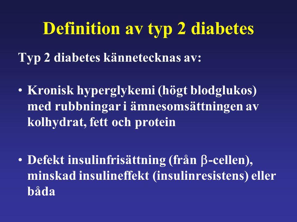 Definition av typ 2 diabetes